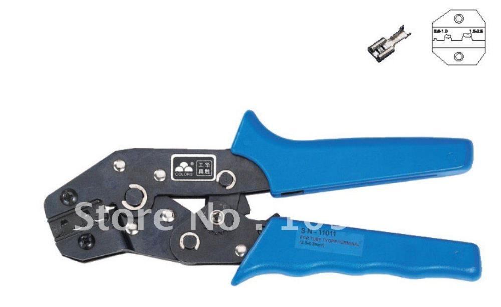 1Pcs Non-insulated tabs and receptacles Crimping plier AWG 22-14 0.5-2.5mm2
