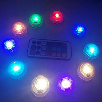 Waterproof Flameless LED Tea Light with Remote Control Underwater Battery Powered Submersible Lights Perfect for Party Lighting