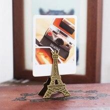 1 шт./компл. Творческий Винтаж металла Эйфелева башня в Париже Памятка клип Сообщение держатели карт держатель фото клип
