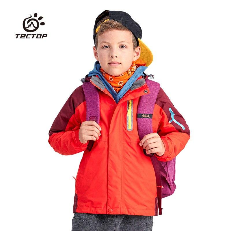 TECTOP2017 Winter Autumn Kids Polar Fleece Boy Girl Ski Jacket Windproof Waterproof Keep Warm Outerwear For