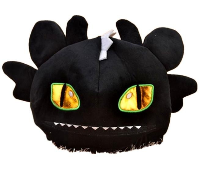 FREE SHIPPING hat & new Cartoon Movie TV How to Train Your Dragon soft plush hat black toothless night fury cap hat free shipping synthetic blonde ponytail how to train your dragon 2 heroine astrid cosplay wig