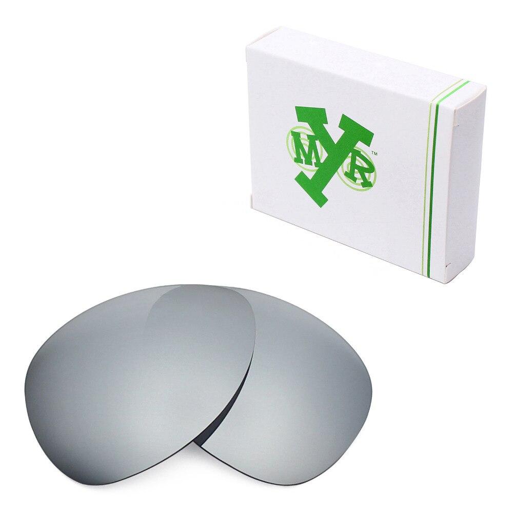 ae1101d526 Mryok POLARIZED Replacement Lenses for Oakley Plaintiff Sunglasses Silver  Titanium