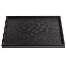 DoreenBeads Eco-friendly Wooden Plate Tea Tray Kungfu Tea Board Puer Tea Trays Storage Container Black Rectangle 22*15*2cm 1PC(China)