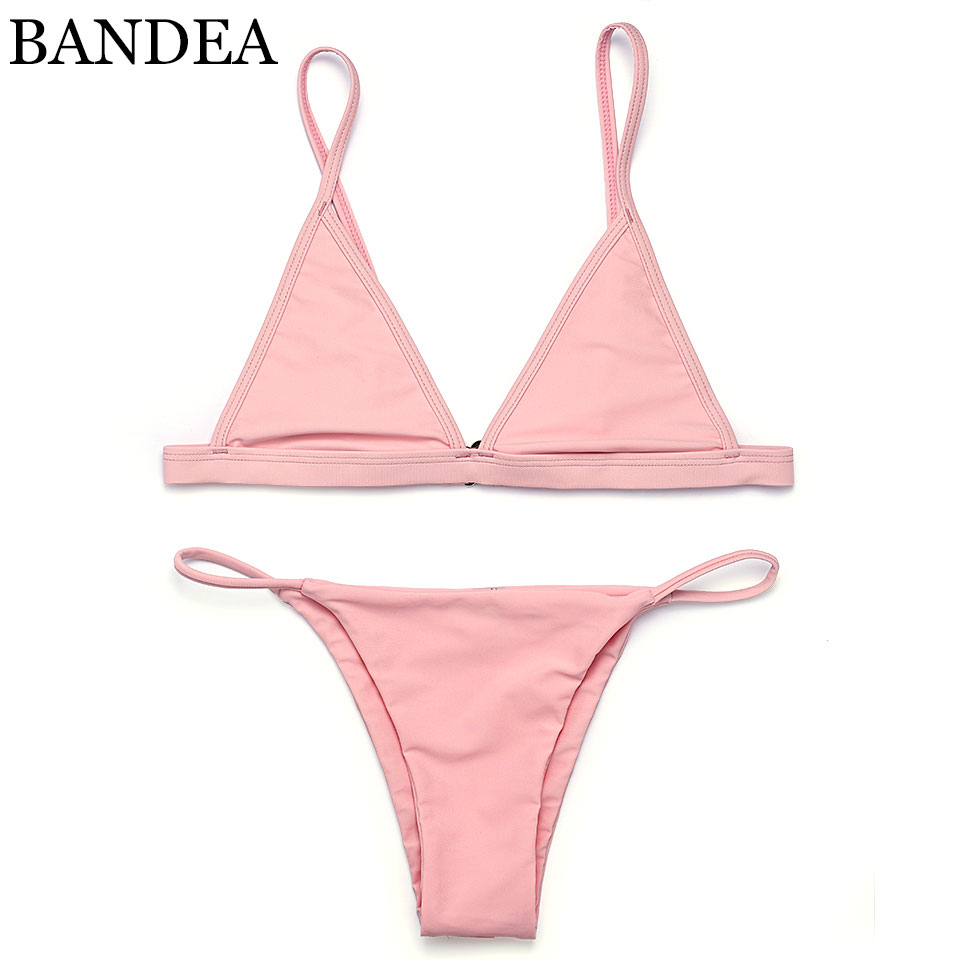 BANDEA bikinis women 2017 Swimsuit Micro Bikini Set Bathing Suits With Halter Strap Swimwear Brazilian bottom Monokini
