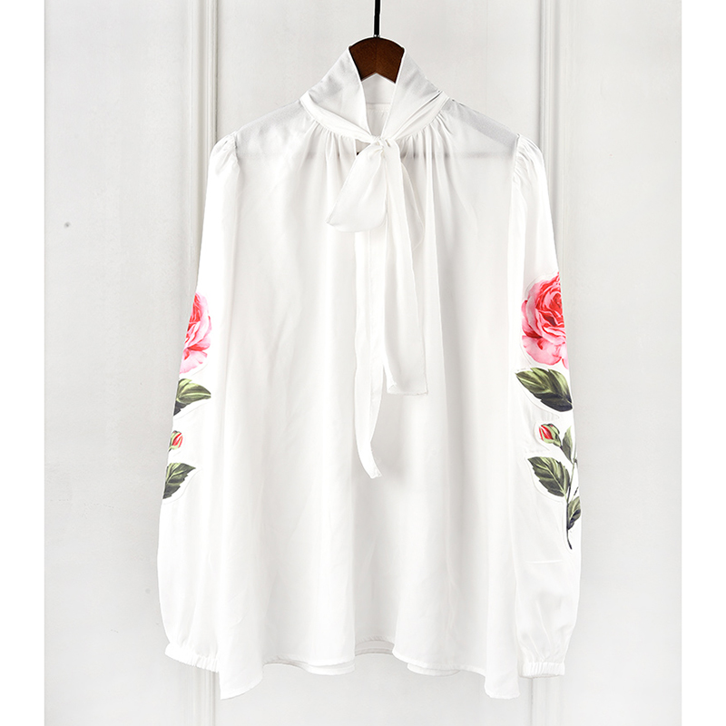 Elegante Camisa Las Diseñador Collar Calle De Manga Breve Tops Larga La Del Blusa Arco Rosa Mujeres Alta FazdqF