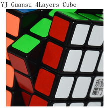 Newest Yongjun Moyu Guansu 4x4x4 Cube 4layers Hight Quality Formal Dedicated Game YJ 4x4x4 Magic Cube 62mm Speed Puzzle Toys
