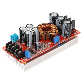 professional dc 20a 1200w dc dc step up boost converter power supply 8 60v 12v step up to 12 83v 24v 48v with heat sink 1200W High Power DC-DC Converter Boost Step-up Power Supply Module 20A IN 8-60V OUT 12-80V Adjustable