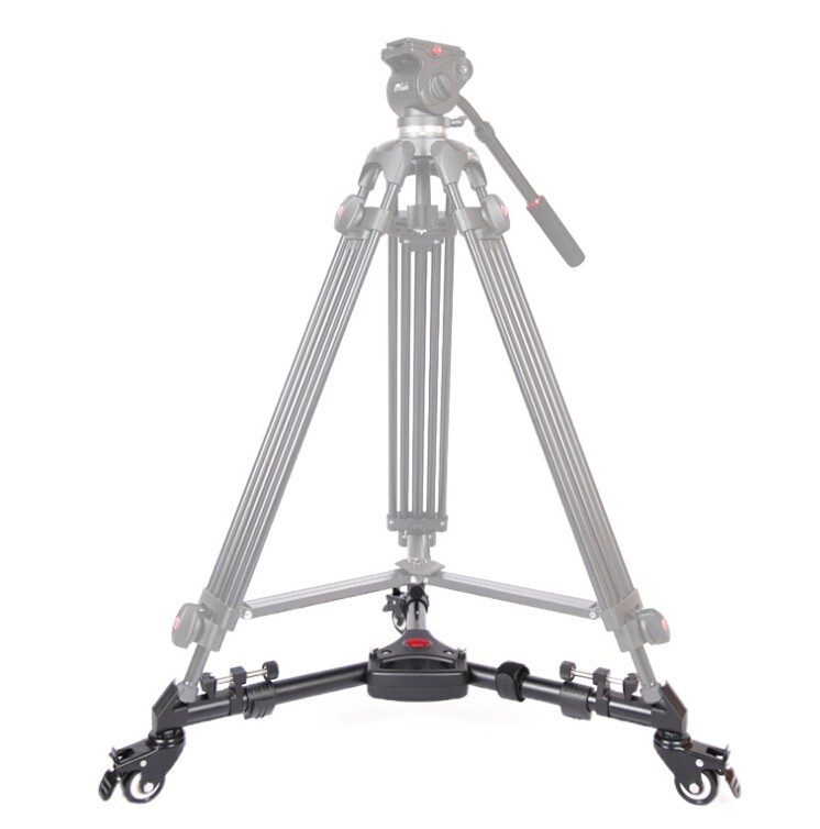 ФОТО DHL YT-900 Pro 3 Wheels Pulley Universal Folding Camera Tripod Dolly Base Stand YT 900 With Carry Bag for benro jieyang tripod