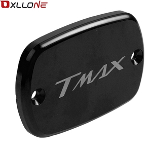 Image 4 - Motorcycle Accessories Aluminum Brake Fluid Fuel Reservoir Tank Cap Cover For Yamaha Tmax530 2012 2013 2014 2015 2016 with logo