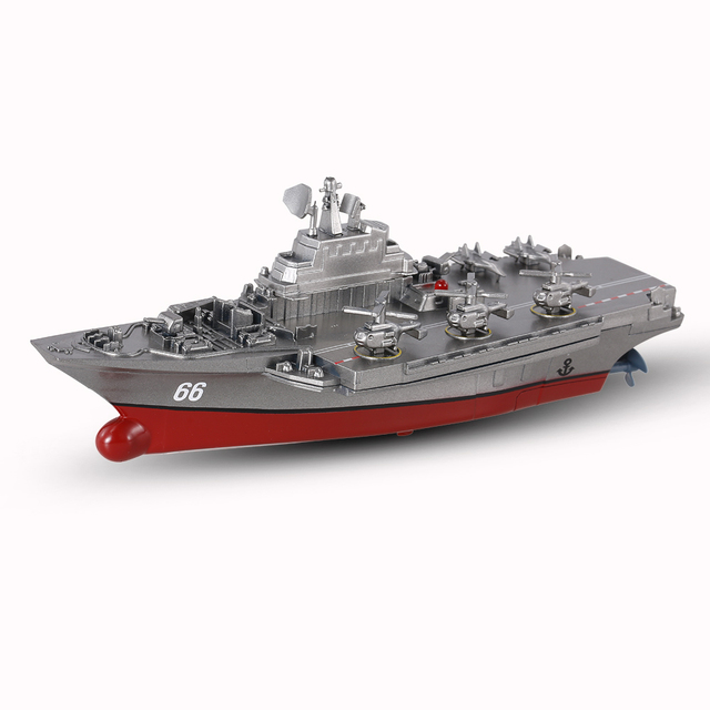 Remote Control Toys RC Boat Sea Star 3319 2.4GHz All Direction Navigate Mini Radio Control Electric Aircraft Carrier Model RTR