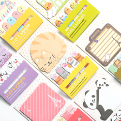 Animal cat panda cute kawaii sticky notes post it memo pad school supplies planner stickers paper.jpg 250x250