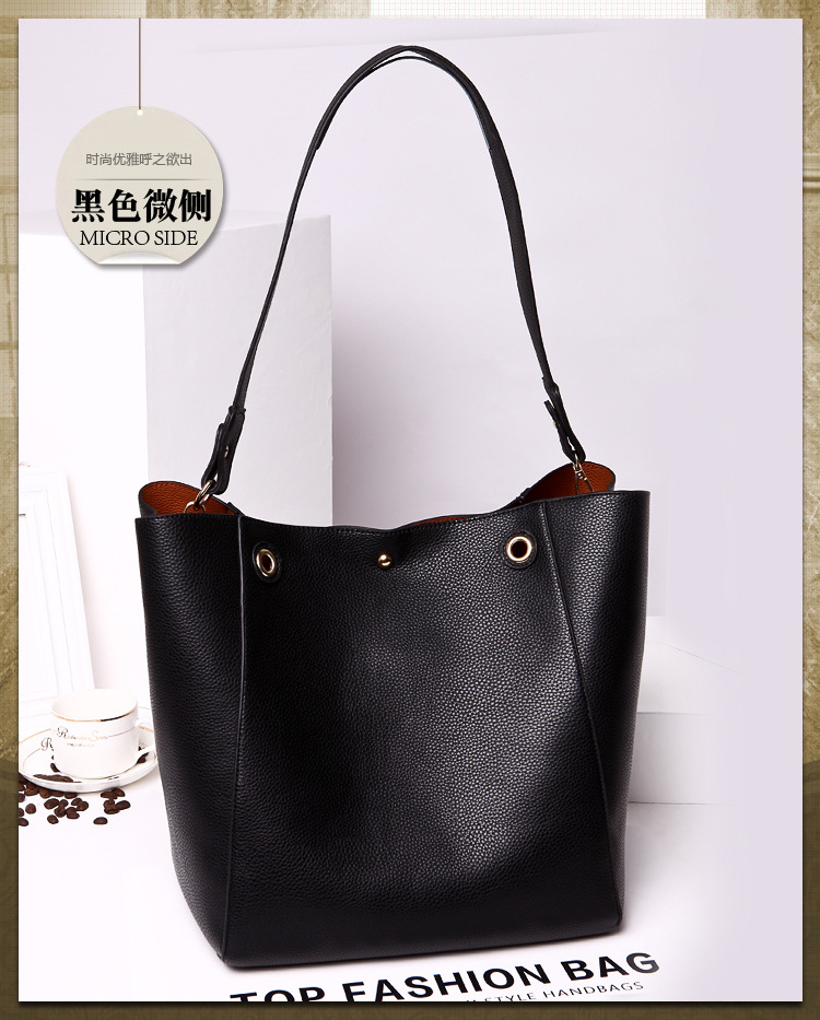 PU Tote Ladies Casual Large Capacity Shoulder Bag 12 colours 48