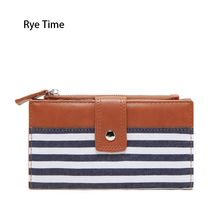 Rye Time women's cotton leather wallets female card holder