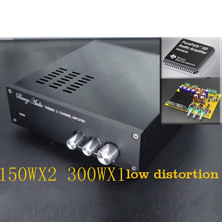 KYYSLB AD827 Op Amp TAS5630 Home Audio Amplifier <font><b>300W</b></font>+150Wx2 Hifi 2.1 Audio Stereo Digital Amplifier <font><b>Subwoofer</b></font> Class D image