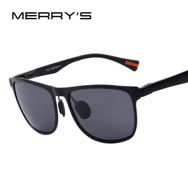 MERRY'S Men Polarized Sunglasses Aluminum Frame Fashion Sunglasses Oculos de sol UV400