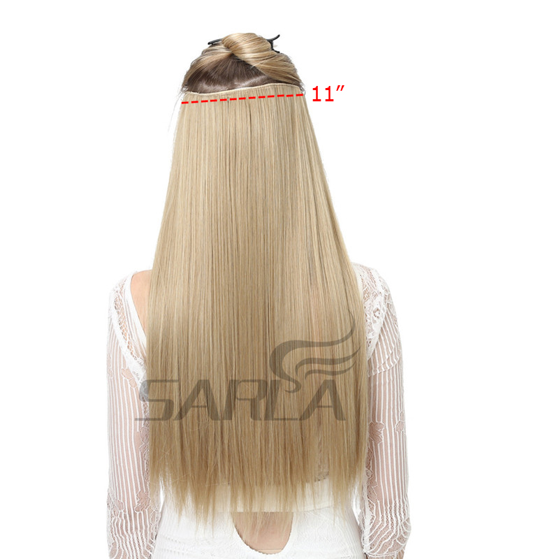 """Image 3 - SARLA 24"""" 60cm 200Pcs/lot Long Straight Clip In Hair Extensions For Women Resistant High Temperature Synthetic Hairpieces 666-in Synthetic Clip-in One Piece from Hair Extensions & Wigs"""