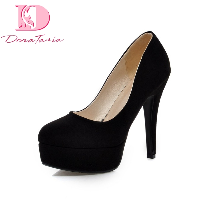 Doratasia Women Shoes Platform High-Heels Big-Size Wholesale Thin 43 Pu Spring-Flock