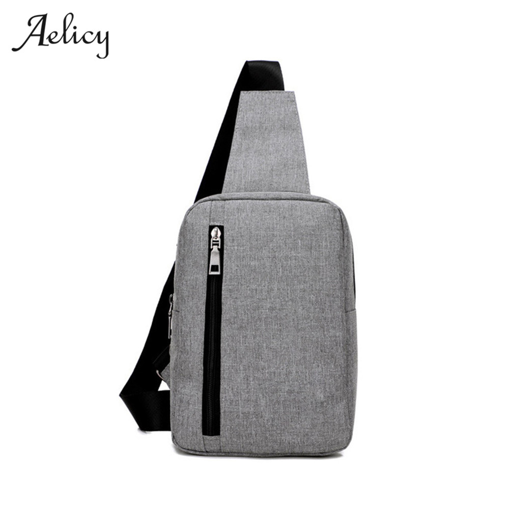 Aelicy New Mens Chest Bag Messenger Bags Casual Canvas Zipper Solid Mens Cross body Bag High Quality Versatile Shoulder BagAelicy New Mens Chest Bag Messenger Bags Casual Canvas Zipper Solid Mens Cross body Bag High Quality Versatile Shoulder Bag
