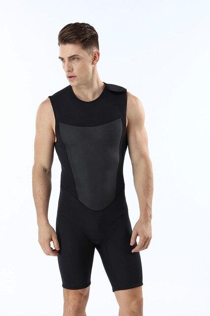 Néoprène 2MM sans manches combinaison de plongée mâle thermique surf combinaison de plongée maillot de bain froid combinaison de plongée nouveauté 2018