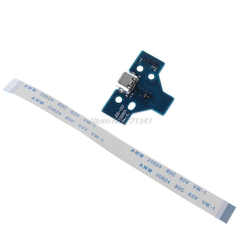 14 ручка-булавка линии зарядка через usb Нижняя плата шлейф для PS4 контроллер JDS-001