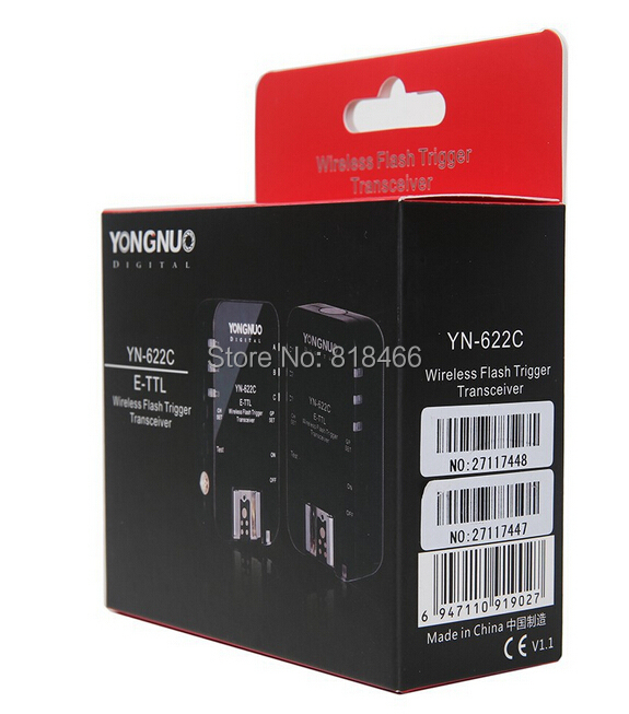 10pcs Yongnuo YN-622C Wireless ETTL HSS 1/8000S Flash Trigger 2 Transceivers for Canon1100D 1000D 650D 600D 550D 7D 5DII 40D 50D yongnuo yn 622c yn 622 wireless ettl hss 1 8000s flash trigger 2 transceivers for canon 1100d 1000d 650d 600d 550d 7d 5dii 40d