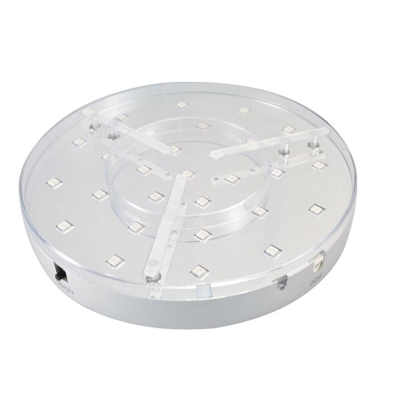 30 pièces * Super lumineux blanc LED 8 pouces lumière base sous Vase lumière centres de table décoration mariage partie RGB lumière base