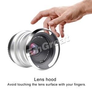 Image 5 - 7artisans 25mm F1.8 Prime Lens for Sony E Mount Fujifilm M4/3 Cameras A6600 A6500 A6300 X T3 X T2X T30 X A10 X A2 with Lens Hood