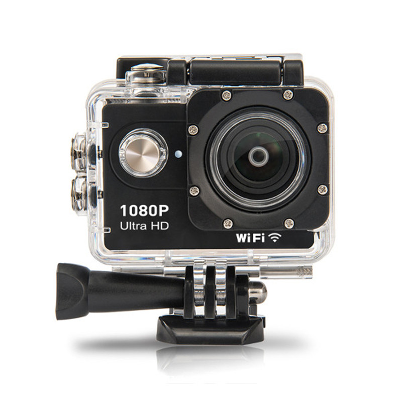 AT-L20 1080P 140 Degree Wide Angle WiFi Camera Ultra HD Waterproof 30m FPV Sport Action Cam for Outdoor RC Drones FPV Quadcopter jjrc aircraft wide angle lens hd camera quadcopter rc drone wifi fpv live helicopter hover 200w 170 wide angle camera ag8 p23