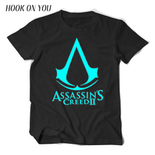 2017 Summer Fashion Noctilucence Luminous Cool Game Assasins Creed Print 100%Cotton Men T-shirt Cosplay T Shirt Casual Clothes