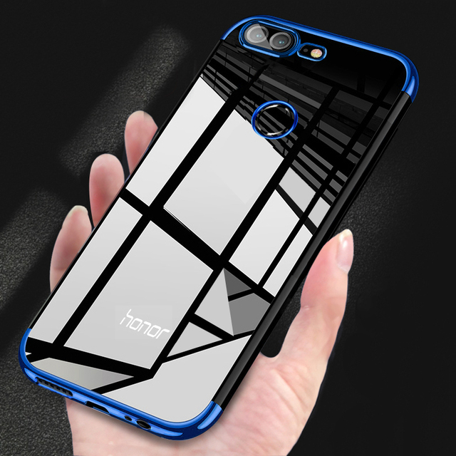 newest a7aff 81671 US $1.71 14% OFF|For Huawei Honor 7x Case Soft TPU Plating Cover on Honor  7X Case Clear Transparent Case for Huawei Honor 7x 7 X Case Coque Capa-in  ...