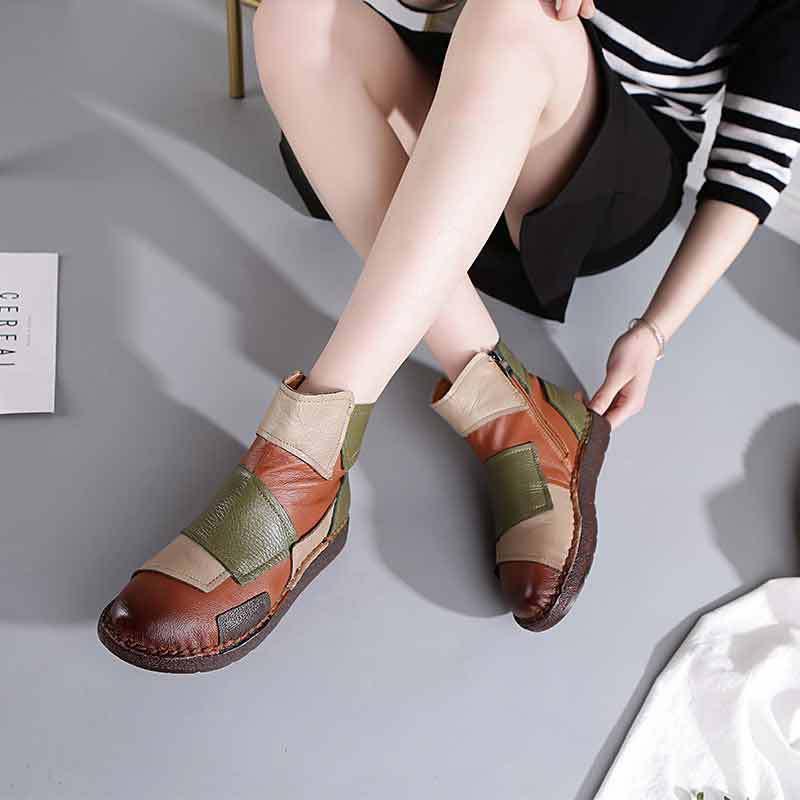 ขายร้อนรองเท้า Martin Boots รองเท้าหนังข้อเท้ารองเท้าวินเทจ Vintage การออกแบบแบรนด์ Retro Handmade ผู้หญิง Lady-ใน รองเท้าบูทหุ้มข้อ จาก รองเท้า บน AliExpress - 11.11_สิบเอ็ด สิบเอ็ดวันคนโสด 1