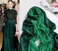 Хиджаб underscarf шапки Зеленый 100% Сатин шелк бренд дизайнер хиджаб и шарфы двойной сталкиваются женщины в 2016 Осень мыс Пашмины