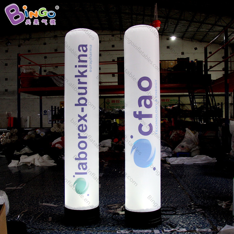 Obedient Personalized 2.5m Height Inflatable Light Column / Inflatable Led Tube / Led Inflatable Column Toys