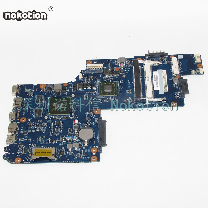 NOKOTION H000062110 Main Board For Toshiba Satellite C55D C55D-A-15U Laptop Motherboard A6-5200 CPU DDR3 HD8570M Video Card nokotion a000175380 laptop motherboard for toshiba satellite c840 l840 main board ati hd7670m graphics ddr3 daby3cmb8e0