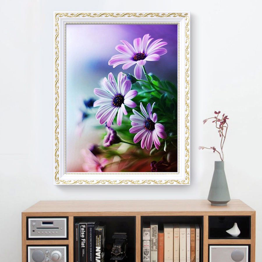 3d new diy diamond painting flowers diamond embroidery for Gifts for home decor