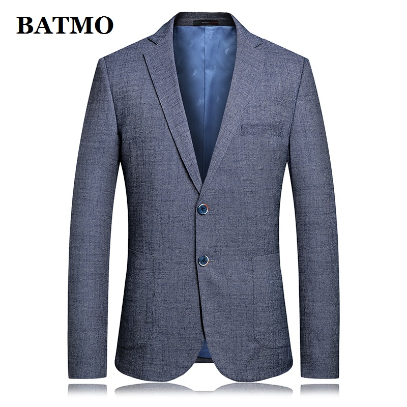 BATMO 2019 New Arrival Spring High Quality Cotton&linen Casual Blazers Men,male Suits Men,casual Jackets Men,plus-size 6829