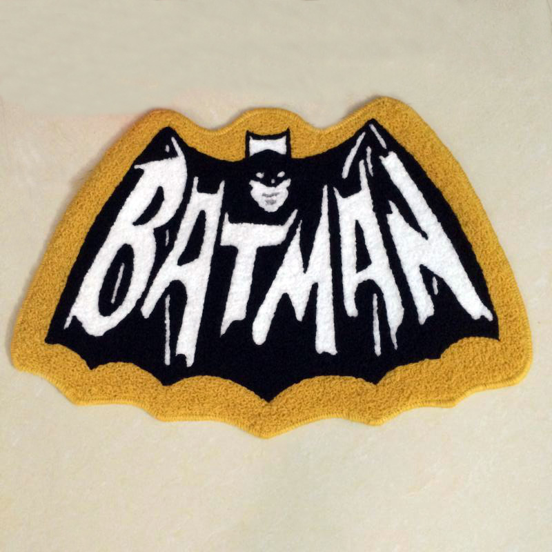 Batman Rug Super Hero Rug For Living Room/Bathroom/Door Machine Washable  Rugs Floor