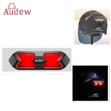 Adesivo Capacete Motorcross Capacete Da Motocicleta Capacete Da Motocicleta Universal Taillight Noite Faixa de Luz de Segurança Luz de Advertência do Sinal
