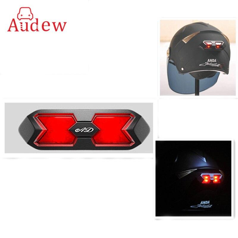 Universal Motorrad Helm Rücklicht Helm Aufkleber Motocross Motorrad Helm Nacht Licht Streifen Sicherheit Signal Warnung Licht