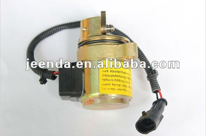 shutdown solenoid 0410 3812 3924450 2001es 12 fuel shutdown solenoid valve for cummins hitachi