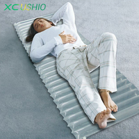 Inflatable Camping Mat Outdoor Air Mattress Light Swimming Moisture Cushion Single Pad PE PA Tent Groundsheet