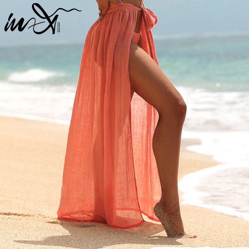 fb2a449b3b4 В-х прозрачное сексуальное пляжное платье 2019 саронг хлопок накидка Saida  de пляжная повязка купальник