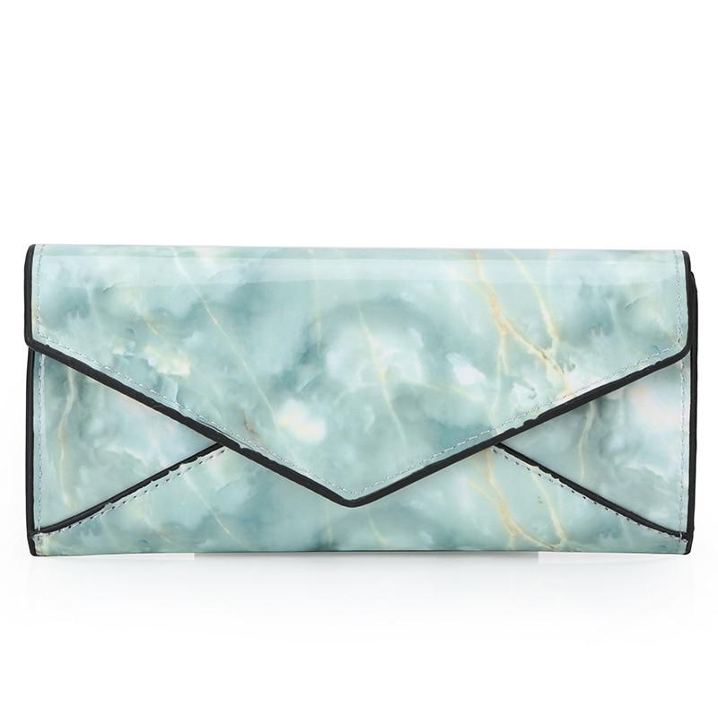 New Marble Texture Buckle Ladies Wallet Trend Fashion Woman Bag Long Zipper Handbag Korean Version 2019