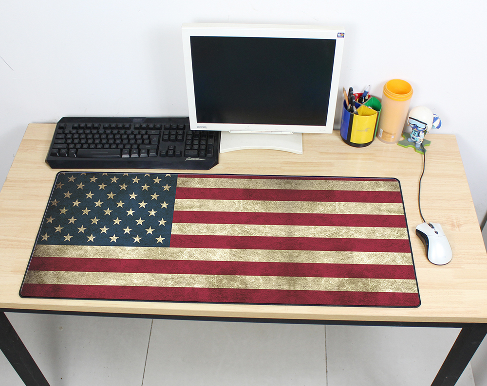 Halloween Gift Vintage Gaming Mouse Pad Plain Extend UKUSKorea Flag Desk Keyboard Mouse Mat 90x40Mousepad Gamer for Fashion Game