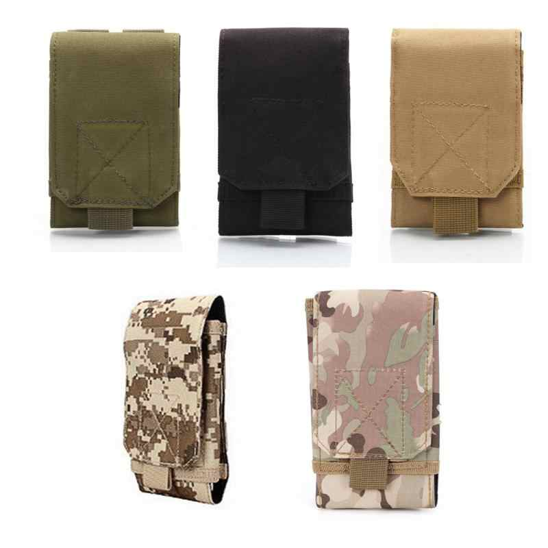 Useful Multifunction Outdoor Camping Hiking Tactical Phone Bag Men Camouflage Waist Bag Hook Loop Belt Pouch Oxford Cloth Mobile Case Low Price Climbing Bags Camping & Hiking