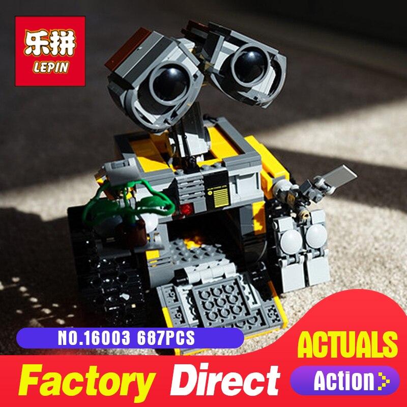 687Pcs Lepin 16003 Idea Robot WALL E Building Set Kits Toys Educational Bricks Blocks Bringuedos LegoINGlys 21303 for Children new lepin 16003 687pcs idea robot wall e model building kits figures blocks bricks children toys 21303
