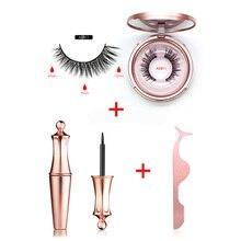 Shozy magnetic eyeliner & eyelashes kit long lasting waterproof with false and applicator EY