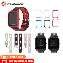 20mm Silikon Handgelenk Strap Sport Armband für Xiaomi Huami Amazfit Bip BIT GTR Smart Uhren Fall Band Smartwatch Zubehör