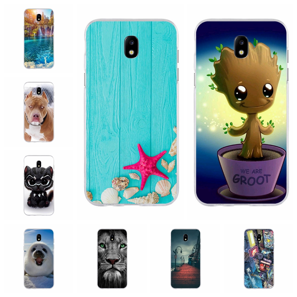 For Samsung Galaxy J5 2017 Case Soft TPU J530 J530F Cover Dog Pattern Pro Coque