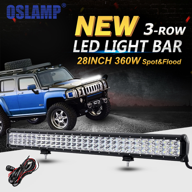 Oslamp 3 row 6d 360w 28inch led work light bar offroad 4x4 led bar oslamp 3 row 6d 360w 28inch led work light bar offroad 4x4 led bar light mozeypictures Choice Image